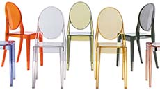contemporary chairs - plastic materials