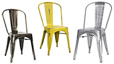 contemporary chairs - steel, wood and upholstered