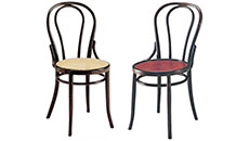 viennese chairs - cane and wood