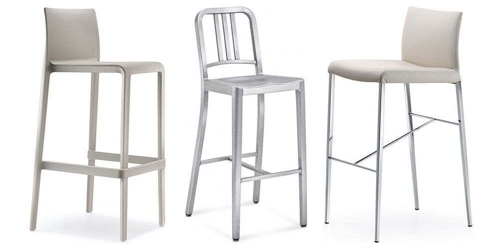 metal and polypropylene stools