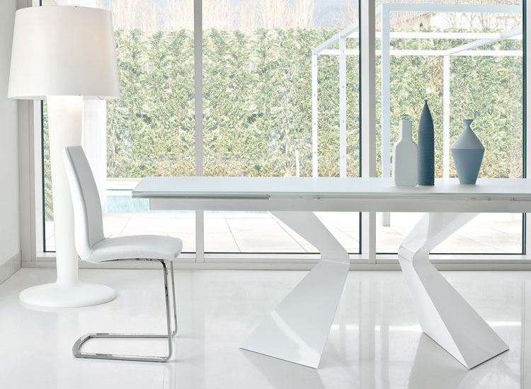 Tavolo bianco lucido | Higrelays
