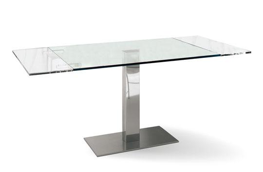 Tavoli tavolo elvis drive 80x120 180 cm for Tavoli in cristallo e acciaio