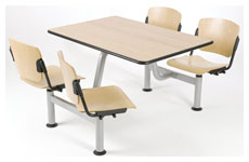 service data wood table and chairs unit h.75cm