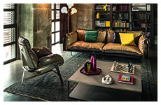 autoreverse sofa-jupiter armchair-isola side table-blob lamp