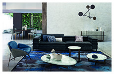 mayfair sofa-juno armchair-douglas side tables-dounglas consolle-iride lamp-epsilon table-venus chair