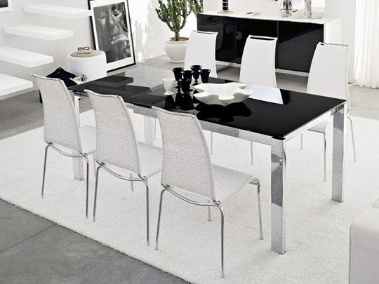Tavolo In Vetro Nero Allungabile.Baron Cb 4010 Mv 130 Table Glass Top
