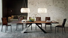 wooden and glass dining room tables
